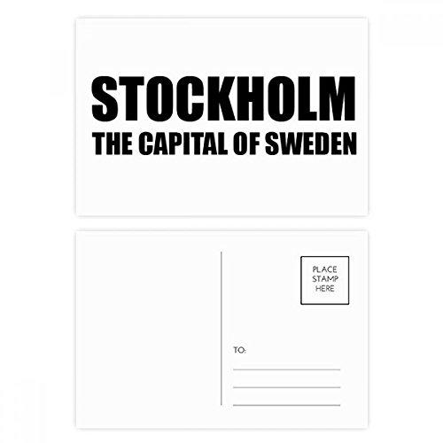 DIYthinker Stockholm Die Hauptstadt von Schweden Postkartenset Geburtstag dankt Karte Mailing Side 20pcs 5.7 Zoll x 3.8 Zoll Mehrfarbig