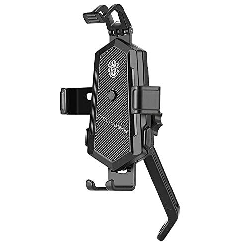 Haodong Supporto per Cellulare per Biciclette Elettrico Bike Mountain Bike Mountain Box Roller Mobile Phone Navigation Stand Quick Release-Piede dello Specchio Nero.