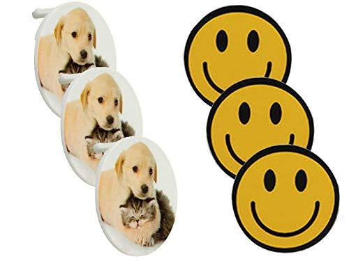 REV 6er Set Steckdosen Schutzabdeckung: 3X Motiv Tiere + 3X Motiv Smiley