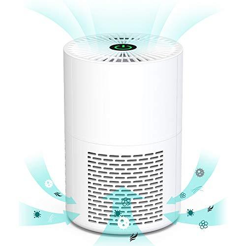 HIMOX Mini Luftreiniger Allergie für Wohnung Gegen Keime, Staub, Allergien, Pollen und Tierhaare