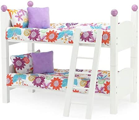 18 Inch Doll Furniture for American Girl Dolls 18 Doll Bunk Bed 2 Single Stackable 18 Inch Doll product image