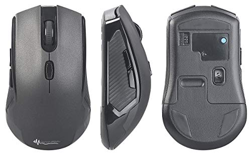 GeneralKeys Mouse, Bluetooth: Optische Multi-Device-Maus mit Funk- und Bluetooth, 2,4 GHz, 1.600 DPI (Gaming Maus)