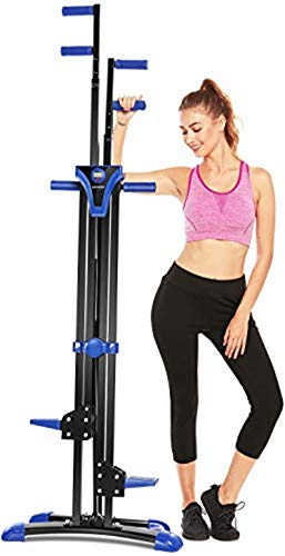 ANCHEER Vertical Climber, Climber Indoor, Folding Versa Climbing Exercise Machine, Cardio Workout Machine, Compact Stair Climber, Adjustable Height with Display