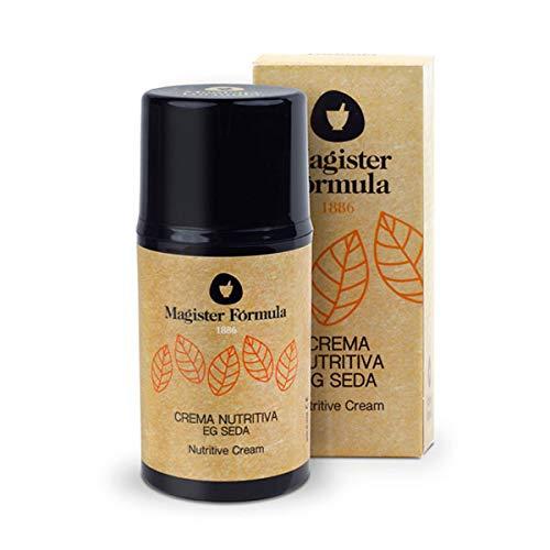 Crema Nutritiva Facial EG Seda 50 ml   Hidratante Natural con Extracto de Proteína de Seda + Ácido Hialurónico + Vitamina E   Piel Mixta y Seca   Día y Noche   Mujer y Hombre   Magister Fórmula