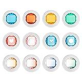 perfk 12pcs de Colores Surtidos Set de Lentes de Filtro de Color para Instax Mini 8 8+ 9 7s KT Cámara de Película Instantánea