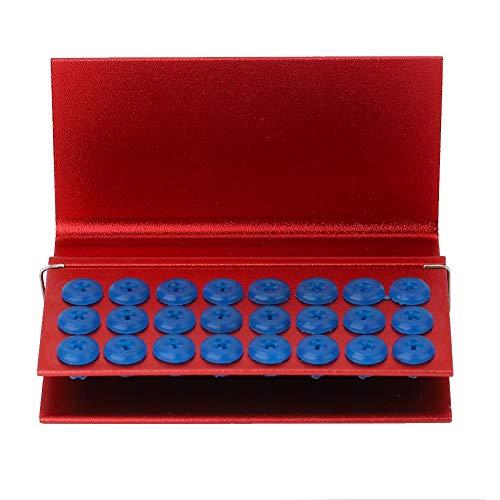 Caja de desinfección, caja de desinfección de aleación de aluminio de 24 orificios con almohadilla de silicona, portainstrumentos de dentista esterilizable en autoclave adecuado para fresas de