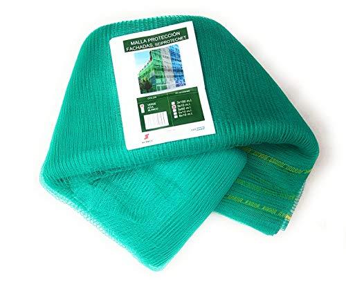 Malla Protección de Andamios y Fachadas 3x10mt HDPE (verde)