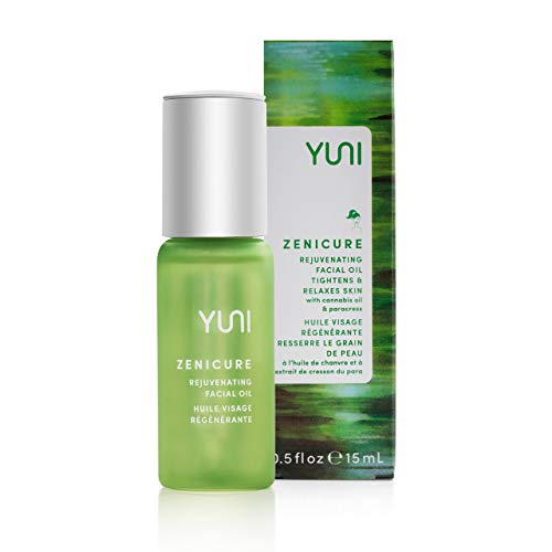 YUNI Beauty Cannabis Facial Oil 05 Oz Zenicure AntiAging Rejuvenating Face Oil with Hemp Oil rich in Omega 6 amp 3  Smooth Firm Brighten Skin  All Natural ParabenFree CrueltyFree