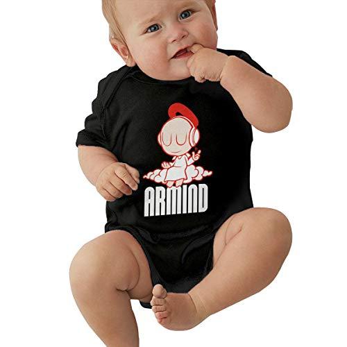 Johnson Hop Armin Van Buuren Baby-Strampler, kurzärmelig, Schwarz , 6 m