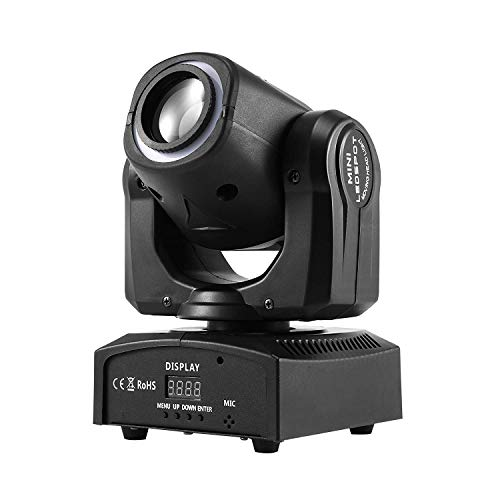 MFL. 50W Moving Head Light, DMX 512 Sound Activated 4 Modes Stage Lighting for DJ Disco Show Bar Nightclub Party