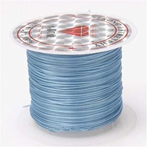 WHYBH HYCSP 393 Pulgadas/Rollo de Fuertes Cuentas de Cristal Hilo elástico 1 mm, utilizados for la Pulsera Hilo elástico Collar de Cuerda Hilo producción (Color : Color 7, Size : 393inch)