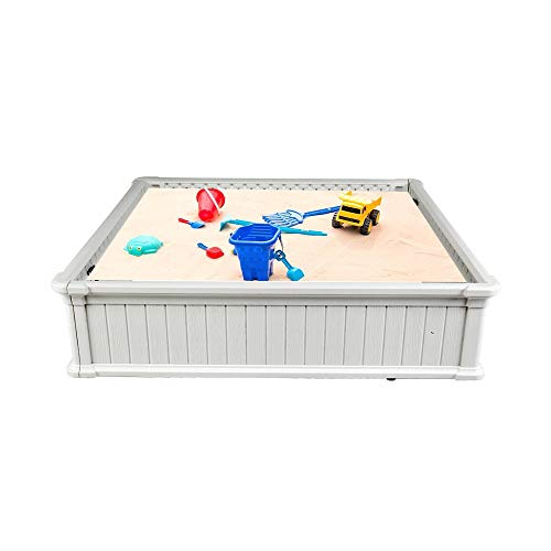 VINGLI 2-in-1 Kids Outdoor Sandbox kit, Children Outdoor Play Activity (47x47Inch)