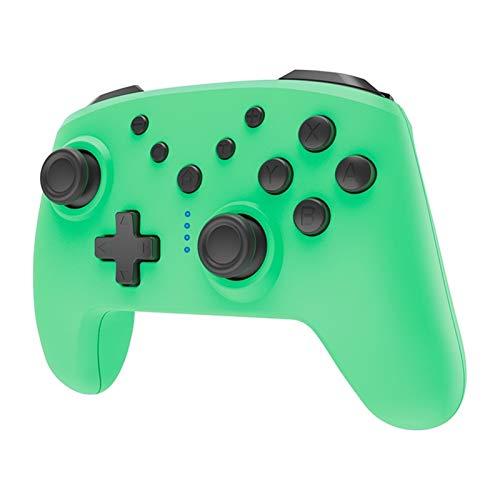 CHANGTRANSLATION Controller Bluetooth Wireless con Controller di Gioco Wireless Jack per Cuffie con somatosensorio .Maniglia Confortevole e Bella (Color : Green)