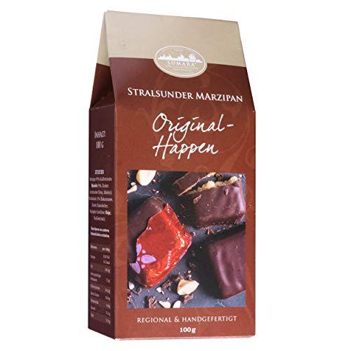 Sumara Stralsunder Marzipan - Original-Stralsunder Marzipanhappen mit Zartbitterschokolade - Ideal als Geschenk zu Ostern