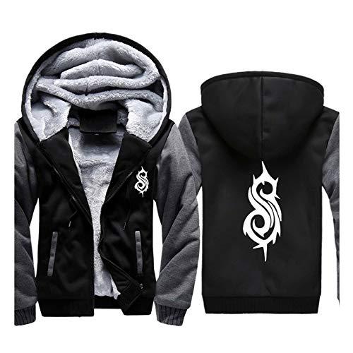 Slipknot Hoodie Herren Sweatshirt Winter Jacke mit Durchgehendem Reißverschluss Langarm Cardigan Verdicken Print Casual Fashion Sport Sweatshirt Mantel