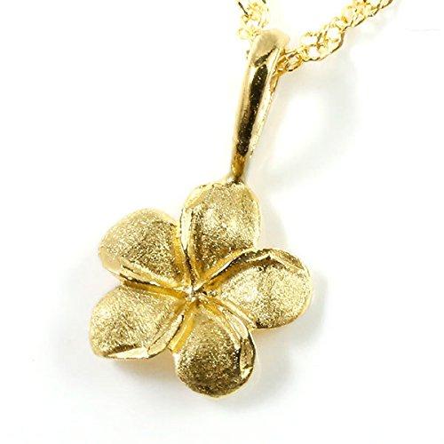[アトラス] Atrus 純金 ゴールド プルメリア 花 ペンダント ネックレス 24金 K24 レディース