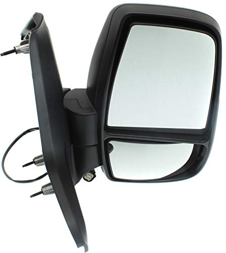 Kool Vue FD335ER Power Mirror compatible with Ford Transit Van 15-17 Right Side Manual Folding Non-Heated Medium/High Roof Textured Black