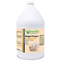 HIGH FOAMING- GreenFist Angel Foam is an instant lathering hand soap that provides an optimal product shot size reducing product usage and considerably reduces water usage when rinsing hands. Washing your hands with this foaming soap will enhance ben...