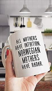 I Love my Norwegian Heritage Gift Mug - Norwegian Mothers Radar Mug - Gift Mug
