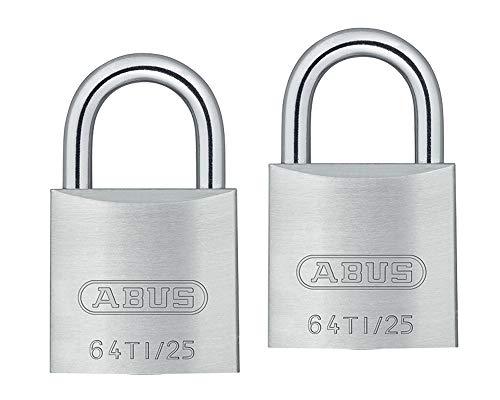 ABUS(アバス) TITALIUM南京錠(同一キー) 25mm 6本キー BP64TI25KA2 00721294