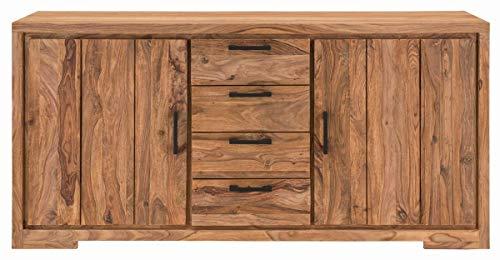 Sit Möbel Sanam dressoir Sheesham, deels geolied L = 176 x B = 45 x H = 85 cm natuur