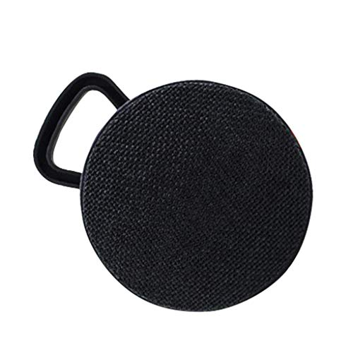 SUPPION Fashion HiFi Cute Hook Up Portable Wireless Bluetooth Stereo Sound Speaker Subwoofer Surround Sound Bluetooth Speaker (One Size, Black)