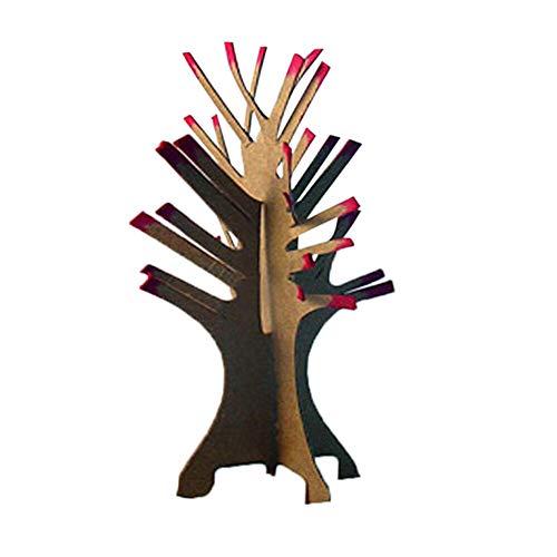 Zolimx Weihnachts-Baum Papier Blühender kreativer Bunter Magischer Wachsender Baum Christmas Tree Toy Crafts (B)