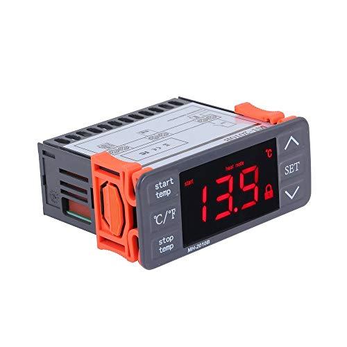 Brightz Controlador de Temperatura Digital - AC220V LED Digital Controlador de Temperatura Touch-Keys ° C / ° F calefacción y refrigeración del termostato 10A 1 relé con Sensor NTC