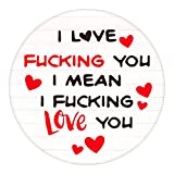 WaaHome Funny Valentines Day for Her Him Boyfriend Girlfriend 3'' I Love You Keepsake Naughty Gifts...