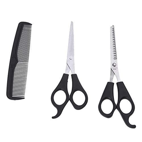 Kiseki Barber Razor Solon Family Hair Cutting Thinning Hairdressing Stainless Steel Scissors Shears Comb 3 Pcs Kit