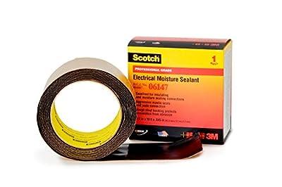 Scotch Electrical Moisture Sealant Roll 06147, 2-1/2 in x 10 ft, 1 roll/carton, Black