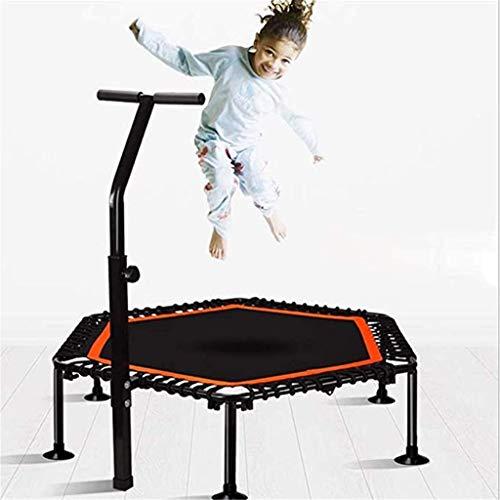 50 Inch Folding Trampoline, Mini Trampoline with Adjustable Handles, Adult Indoor Fitness,Home Exercise Aerobics, Indoor/Outdoor,(Rebounder Trampoline) Fitness