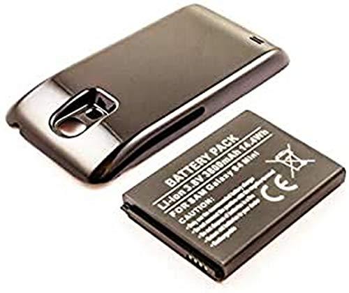 Batería para Samsung Galaxy S4 Mini, Ion de Litio, 3,8 V, 3800 mAh, 14,4 WH, con Funda, Color Negro