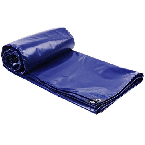 SSHA Lona Cubiertas de la Hoja de Tierra de la Lona Resistente a Prueba de Agua para Acampar, Pesca, jardinería, Azul, Grosor: 0.4mm Lona Impermeable (Size : 6MX8M)