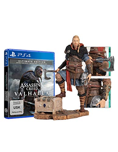 Assassin's Creed Valhalla - Ultimate Edition + Eivor Figur (kostenloses Upgrade auf PS5) [Playstation 4]