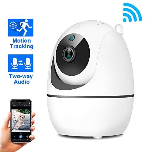 Drahtlose Dome Kamera, Home WiFi handliche Fernbedienung Baby monitor2-Way Audio, Nachtsicht Überwachung System mit Bewegung, gebaut-in SD Slot
