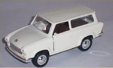 Welly Trabant Trabbi Trabi Kombi Weiss White Ca 1/43 1/36-1/46 Modellauto Modell Auto