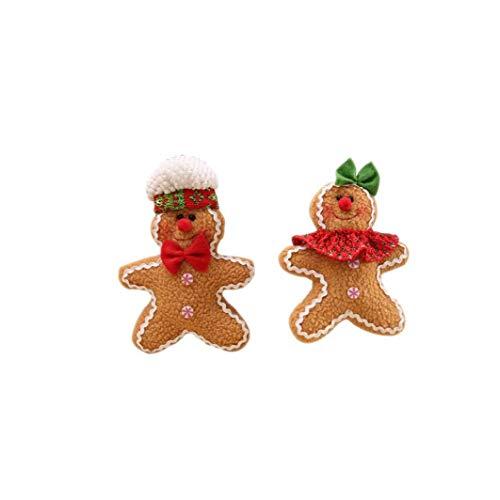 linjunddd Weihnachtsbaum Hängende Lebkuchen-Mann-Ornamente Puppe Weihnachten Startseite Fall-hängenden Weihnachtsschmuck für Outdoor Indoor Festliche Dekor 1pair