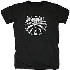 TSP Circle Wolf Medallion Gamer Camiseta para Hombre