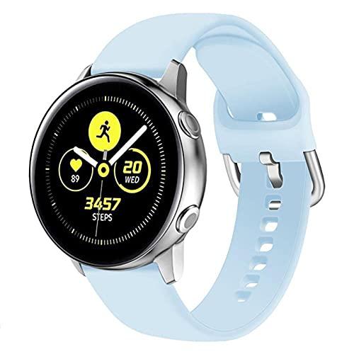 LLKHFA Correa de silicona para reloj Samsung Galaxy Watch 42 mm Active2 40/44 mm suave para reloj deportivo Samsung S2 Classic (color de la correa: color 21, ancho de la correa: para Amazfit Bip)