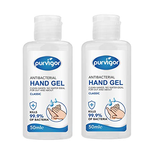 Instant Hand Sanitizer Alcohol Based (50 Ml) With Moisturuzers & Vitamin E - Kill 99.9% of Germs Pump No Rinse Foam Hand Soap 2Pack