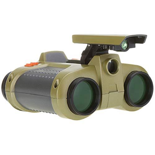 INTVN Binocular Compacto a Prueba de Golpes Impermeable para Niños con Foco Emergente , Prismáticos para Niños 2-6 Regalo De Cumpleaño para pequeños exploradores