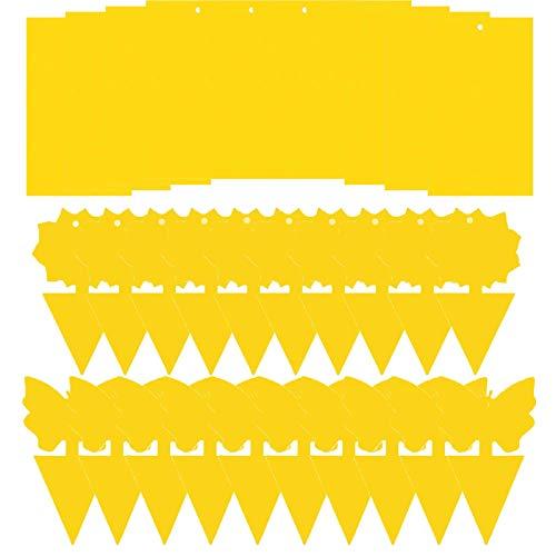 YIUNKH Trampa para Moscas Amarilla Trampa Adhesiva para Insectos Pegatinas para Atrapar Moscas Pegatinas Amarillas para Plantas Ornamentales Trampa para Moscas para Colgar Y Enchufar 30 Piezas