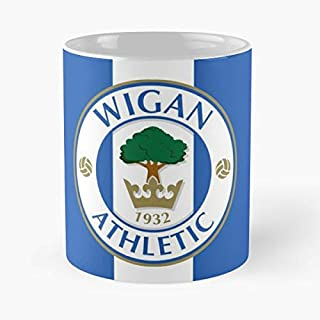 Wigan Athletic Classic Mug - The Funny Coffee Mugs For Halloween, Holiday, Christmas Party Decoration 11 Ounce White Cettire.