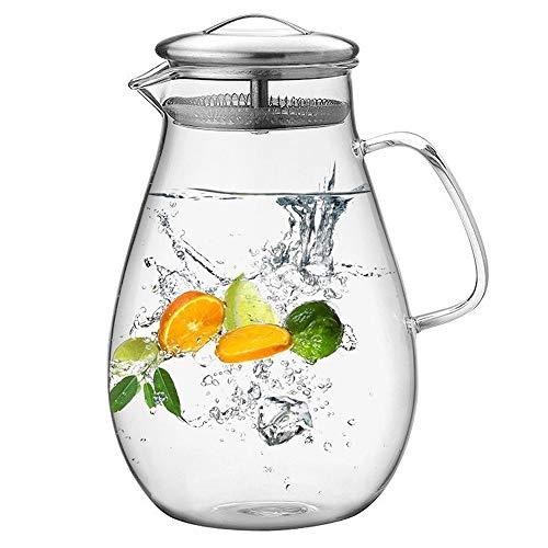 1.9 Liter 64 Ounces Gallon Krug heißen Kaltwassereis Tea Wein Kaffee Milch und Juice Beverage Glas Pitcher mit Deckel Covered Homemade Juice und Eis-Tee