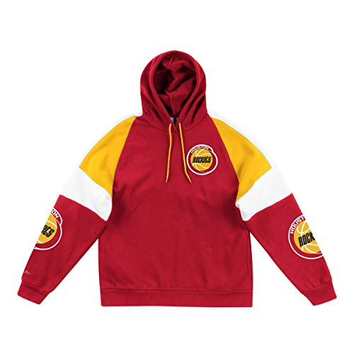 Mitchell & Ness Houston Rockets NBA Instant Replay Hoody Hoodie Sweater Herren Mens