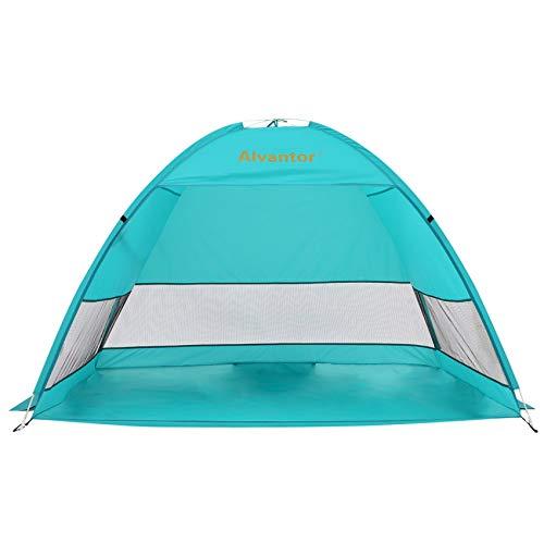 Alvantor Beach Tent Coolhut Plus Beach Umbrella Outdoor Sun Shelter Cabana Automatic Instant Pop-Up UPF 50+ Sun Shade Portable Camping Fishing Hiking Canopy Easy Set Up Light Weight Windproof