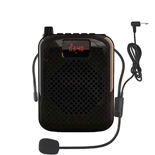 WWAXCC micrófono Micrófono Altavoz Amplificador de voz Amplificador Megáfono Altavoz para enseñar Guía de turismo Promoción de ventas, negro