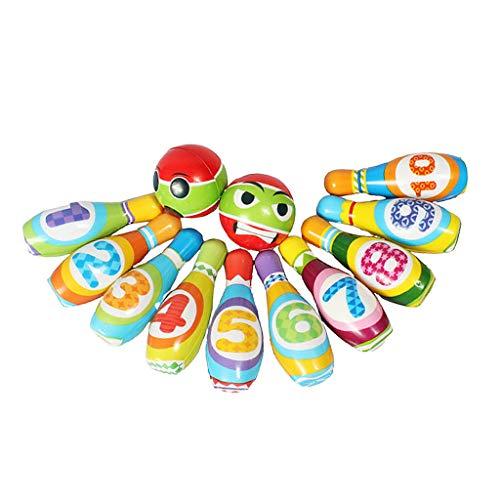 LOVIVER Mini Bola De Bolos + Bolos de Boliche Colorido Juguete para Juego de Niños Interior Al Aire Libre Regalo Infantil