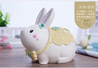 ATM  可愛い兎 ウサギ貯金箱 バンク  女のプレゼント 子供のおもちゃ 子供のプレゼント 動物兎貯金箱  硬貨 コイン ケース  インテリア 置物 樹脂 金庫型